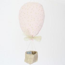 Ballon voyageur mini confettis or