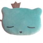Coussin Le roi chat bleu et gris