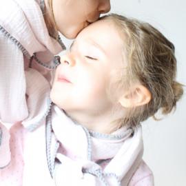 Foulard mère et fille modèle Eglantine