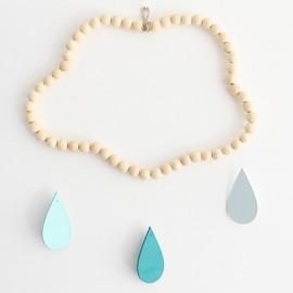 Nuage en perles de bois Marin