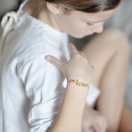 Bracelet or étoiles
