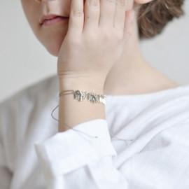 Bracelet argent feuilles