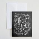 Carte double «Floral thank you»