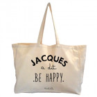 Maxi bag Jacques a dit Be happy