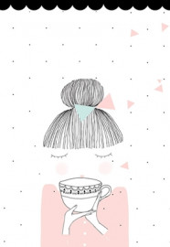 Affiche La fille au thé