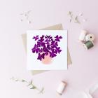 Carte Bouquet de papillons