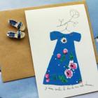 Carte double J'aime sentir le bas de ma robe danser
