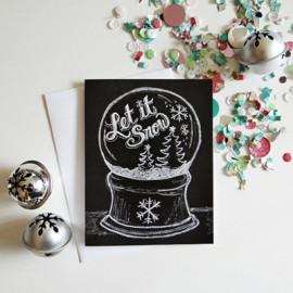Carte double Let it snow globe