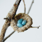 Broche « My little nest » bleue