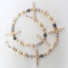 Guirlande en perles de bois Solal