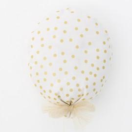 Ballon Camille blanc et or