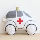 Hochet «Mini ambulance» en tissu écolier