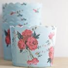 Caissettes à cupcakes fleuries vintage
