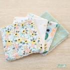 Lingettes en coton couleurs pastels