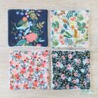 Lingettes en coton couleurs vives