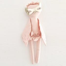 Bébé hibou Melle Bouri rose