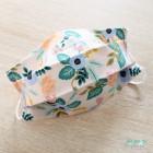 Masque barrière fleurs pastels enfant et adulte