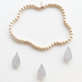 Mobile nuage en perles de bois Collection Neige