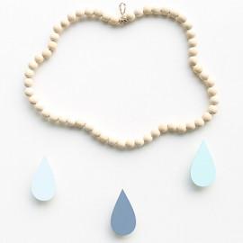 Mobile nuage en perles de bois Marin