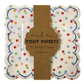 Petites assiettes à pois Toot sweet