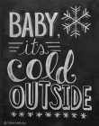 Carte double « Baby it's cold outside »