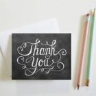 Carte double «Elegant thank you»
