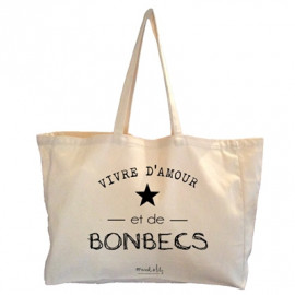 Maxi bag Vivre d'amour et de bonbecs