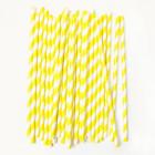 Pailles à rayures jaunes